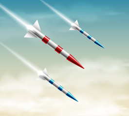 Three rockets