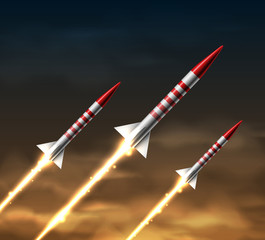 Flying rockets