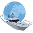 Yate navegando alrededor del mundo