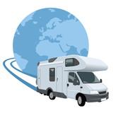 autocaravana viajando alrededor del mundo