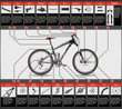 High detailed scheme of full suspension MTB