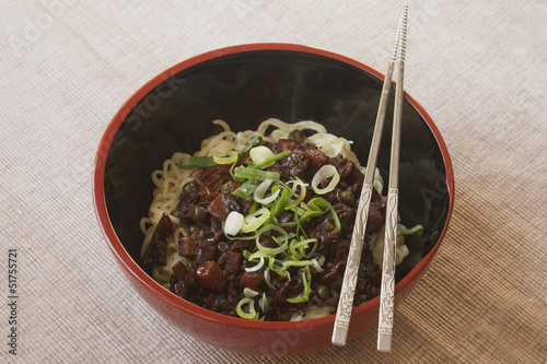 Jajangmyeon - Korean black bean paste noodle
