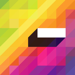 Colorful abstract background with diagonal shapes and space for