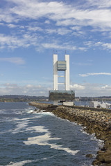Maritime control tower, A Coruna, Spain