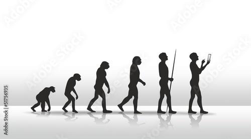 canvas print picture evolution2504b