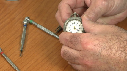 watchmaker repair pocket watch