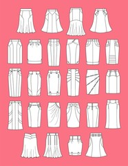 Vector illustration of skirts