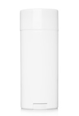 Deodorant container on a white background.