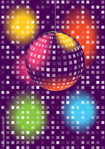 modern vector disco ball background
