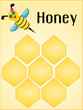 Bee and honey background