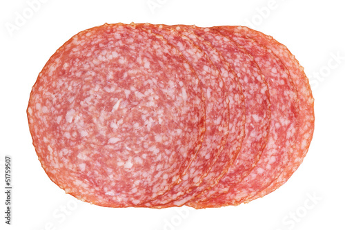 thin salami slices