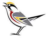 Stylized bird --- Chestnut-sided Warbler