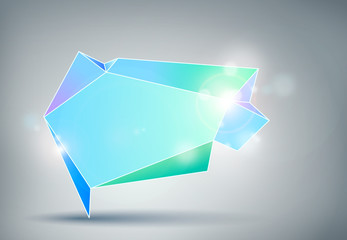 Sfondo astratto con box geometrico multicolore