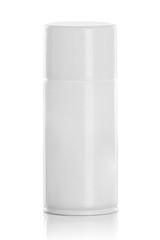 white spray can