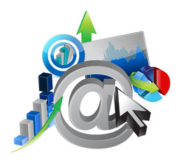 online business success illustration design