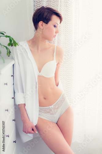 Woman on lingerie