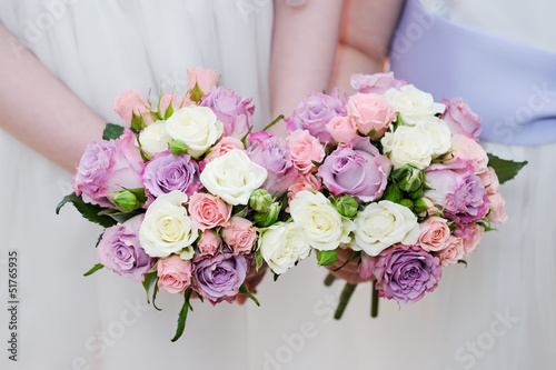 Bridesmaids flowers closeup