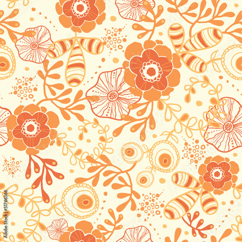 Vector golden florals elegant seamless pattern background