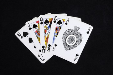 Royal flush poker hand © Arena Photo UK