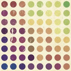 Retro colorful circles background, vector