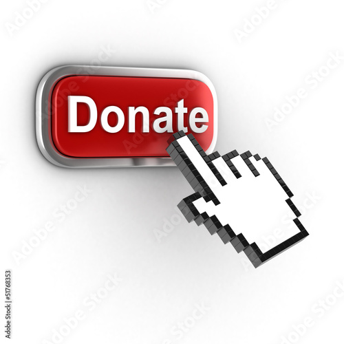 donate 3d button