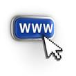 internet 3d concept