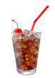 glass of coke with cherry