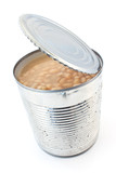 Open tin can of beans