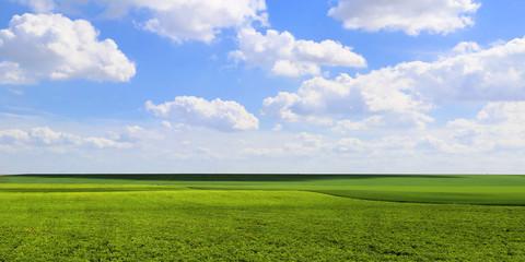 Panoramique Plaine et Ciel