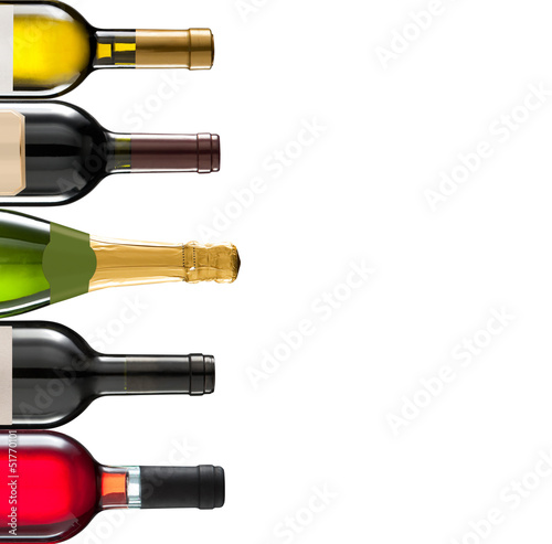 Group of many bottles