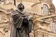 Leinwanddruck Bild - Luther vor der Dresdner Frauenkirche