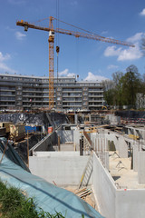 chantier fondation immeuble