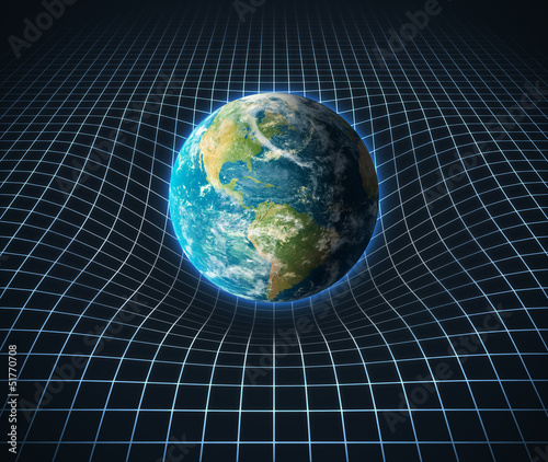 earth's gravity bends space around it