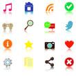 Social media web icons for website