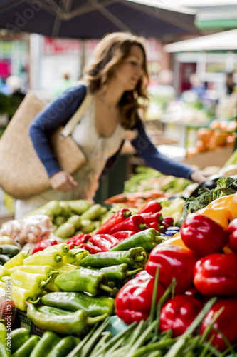 Young woman at the market - 51770954