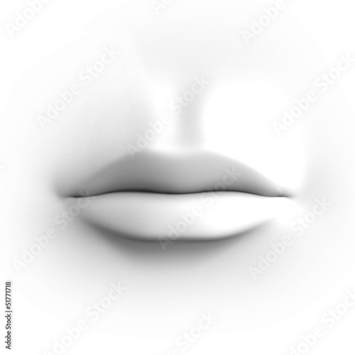 human mouth isolated on white