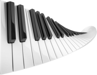 abstract piano keyboard wave