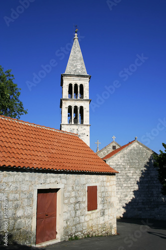 Catholic church on Brac island in Croatia