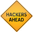 Hackers warning sign