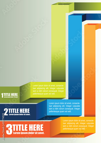 Abstract vector background with three positions