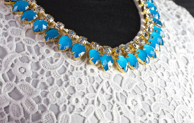 Beautiful jewelry collar on dress