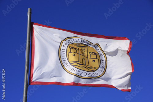 Flag of Society of Friends of Old Dubrovnik, Croatia