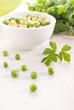 Green risotto with pesto