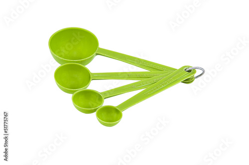 Measuring Spoons isolated
