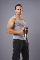 Handsome man and a coffee mug