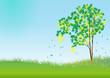 Spring tree.vector