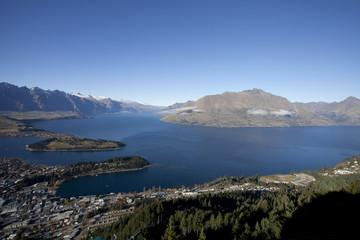 Beautiful Queenstown bay, New Zealand