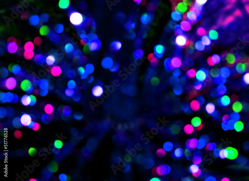 Abstract bokeh background in blue tones