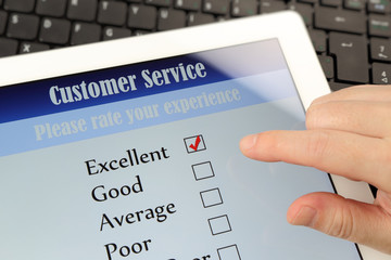 Customer service on-line survey