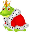 Frog king cartoon